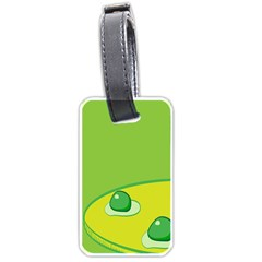 Food Egg Minimalist Yellow Green Luggage Tags (one Side)  by Alisyart