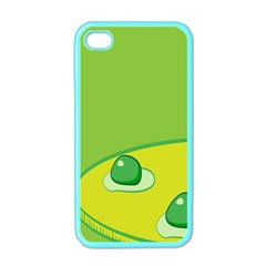 Food Egg Minimalist Yellow Green Apple Iphone 4 Case (color) by Alisyart