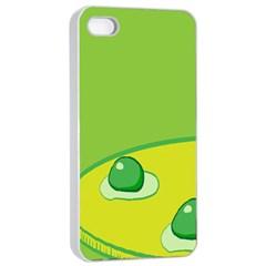 Food Egg Minimalist Yellow Green Apple Iphone 4/4s Seamless Case (white) by Alisyart