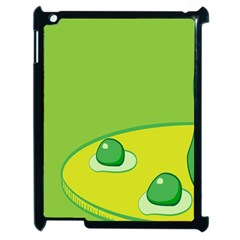 Food Egg Minimalist Yellow Green Apple Ipad 2 Case (black) by Alisyart