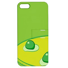 Food Egg Minimalist Yellow Green Apple Iphone 5 Hardshell Case With Stand by Alisyart