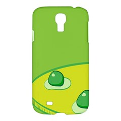 Food Egg Minimalist Yellow Green Samsung Galaxy S4 I9500/i9505 Hardshell Case by Alisyart
