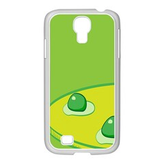 Food Egg Minimalist Yellow Green Samsung Galaxy S4 I9500/ I9505 Case (white) by Alisyart