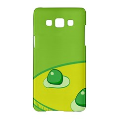Food Egg Minimalist Yellow Green Samsung Galaxy A5 Hardshell Case  by Alisyart