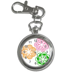 Flower Floral Love Valentine Star Pink Orange Green Key Chain Watches by Alisyart