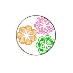 Flower Floral Love Valentine Star Pink Orange Green Hat Clip Ball Marker (4 Pack) by Alisyart