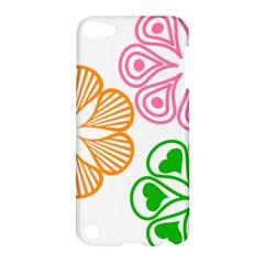 Flower Floral Love Valentine Star Pink Orange Green Apple Ipod Touch 5 Hardshell Case by Alisyart