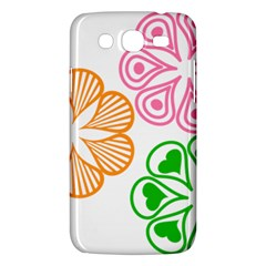 Flower Floral Love Valentine Star Pink Orange Green Samsung Galaxy Mega 5 8 I9152 Hardshell Case