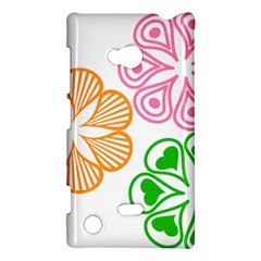 Flower Floral Love Valentine Star Pink Orange Green Nokia Lumia 720 by Alisyart