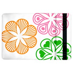 Flower Floral Love Valentine Star Pink Orange Green Ipad Air 2 Flip by Alisyart