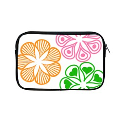 Flower Floral Love Valentine Star Pink Orange Green Apple Macbook Pro 13  Zipper Case by Alisyart