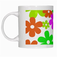 Flowers Floral Sunflower Rainbow Color Pink Orange Green Yellow White Mugs by Alisyart