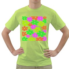 Flowers Floral Sunflower Rainbow Color Pink Orange Green Yellow Green T Shirt by Alisyart