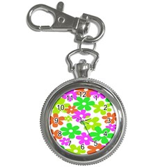 Flowers Floral Sunflower Rainbow Color Pink Orange Green Yellow Key Chain Watches by Alisyart