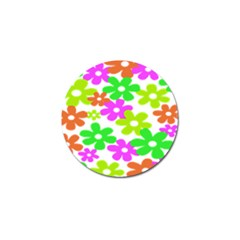 Flowers Floral Sunflower Rainbow Color Pink Orange Green Yellow Golf Ball Marker (4 Pack) by Alisyart