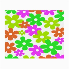 Flowers Floral Sunflower Rainbow Color Pink Orange Green Yellow Small Glasses Cloth by Alisyart