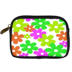 Flowers Floral Sunflower Rainbow Color Pink Orange Green Yellow Digital Camera Cases by Alisyart