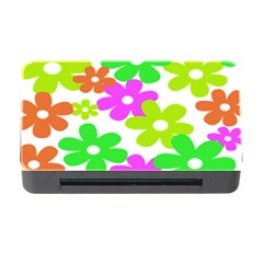 Flowers Floral Sunflower Rainbow Color Pink Orange Green Yellow Memory Card Reader With Cf by Alisyart