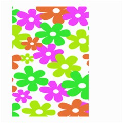 Flowers Floral Sunflower Rainbow Color Pink Orange Green Yellow Small Garden Flag (two Sides) by Alisyart