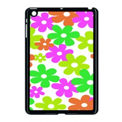Flowers Floral Sunflower Rainbow Color Pink Orange Green Yellow Apple Ipad Mini Case (black) by Alisyart