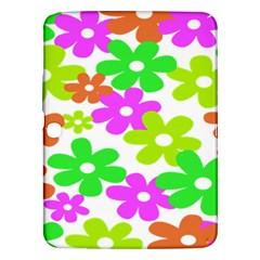 Flowers Floral Sunflower Rainbow Color Pink Orange Green Yellow Samsung Galaxy Tab 3 (10 1 ) P5200 Hardshell Case