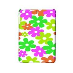 Flowers Floral Sunflower Rainbow Color Pink Orange Green Yellow Ipad Mini 2 Hardshell Cases by Alisyart
