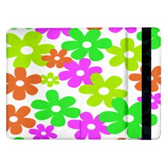 Flowers Floral Sunflower Rainbow Color Pink Orange Green Yellow Samsung Galaxy Tab Pro 12 2  Flip Case
