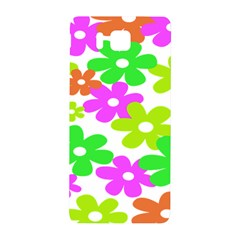 Flowers Floral Sunflower Rainbow Color Pink Orange Green Yellow Samsung Galaxy Alpha Hardshell Back Case