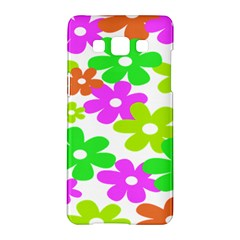 Flowers Floral Sunflower Rainbow Color Pink Orange Green Yellow Samsung Galaxy A5 Hardshell Case  by Alisyart