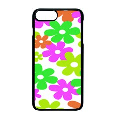 Flowers Floral Sunflower Rainbow Color Pink Orange Green Yellow Apple Iphone 7 Plus Seamless Case (black) by Alisyart