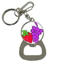 Fruit Grapes Strawberries Red Green Purple Button Necklaces by Alisyart