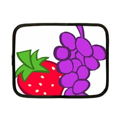 Fruit Grapes Strawberries Red Green Purple Netbook Case (small)  by Alisyart