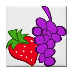 Fruit Grapes Strawberries Red Green Purple Face Towel by Alisyart