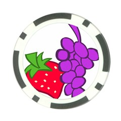 Fruit Grapes Strawberries Red Green Purple Poker Chip Card Guard (10 Pack) by Alisyart