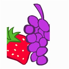 Fruit Grapes Strawberries Red Green Purple Small Garden Flag (two Sides) by Alisyart