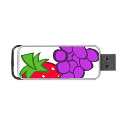 Fruit Grapes Strawberries Red Green Purple Portable Usb Flash (two Sides) by Alisyart