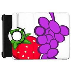 Fruit Grapes Strawberries Red Green Purple Kindle Fire Hd 7  by Alisyart