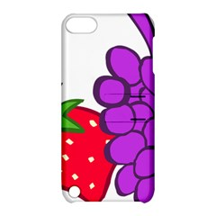 Fruit Grapes Strawberries Red Green Purple Apple Ipod Touch 5 Hardshell Case With Stand by Alisyart