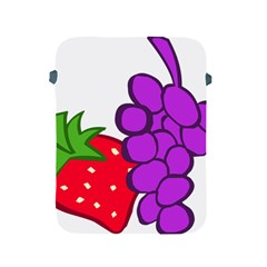 Fruit Grapes Strawberries Red Green Purple Apple Ipad 2/3/4 Protective Soft Cases by Alisyart