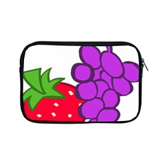 Fruit Grapes Strawberries Red Green Purple Apple Ipad Mini Zipper Cases by Alisyart