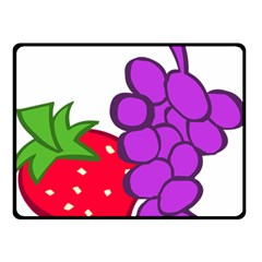Fruit Grapes Strawberries Red Green Purple Double Sided Fleece Blanket (small)  by Alisyart