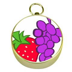 Fruit Grapes Strawberries Red Green Purple Gold Compasses by Alisyart