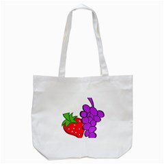 Fruit Grapes Strawberries Red Green Purple Tote Bag (white) by Alisyart
