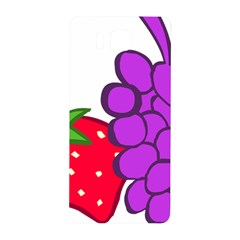Fruit Grapes Strawberries Red Green Purple Samsung Galaxy Alpha Hardshell Back Case by Alisyart