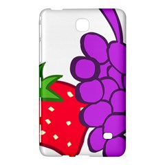 Fruit Grapes Strawberries Red Green Purple Samsung Galaxy Tab 4 (7 ) Hardshell Case  by Alisyart