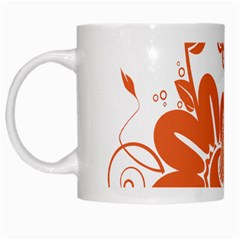 Floral Rose Orange Flower White Mugs by Alisyart