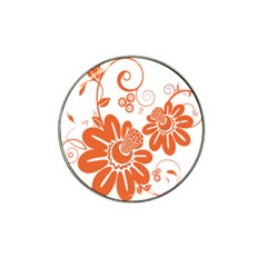 Floral Rose Orange Flower Hat Clip Ball Marker (4 Pack) by Alisyart