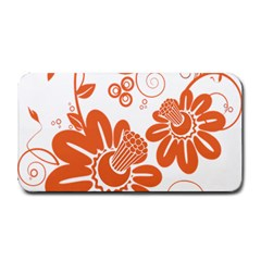 Floral Rose Orange Flower Medium Bar Mats by Alisyart