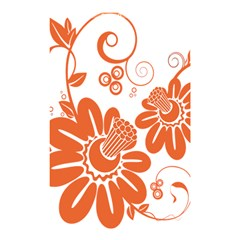 Floral Rose Orange Flower Shower Curtain 48  X 72  (small)  by Alisyart