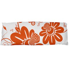 Floral Rose Orange Flower Body Pillow Case (dakimakura) by Alisyart